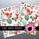 Victorian Roses Digital print Sticker Sheet-Print StickersingAltered ArtCards