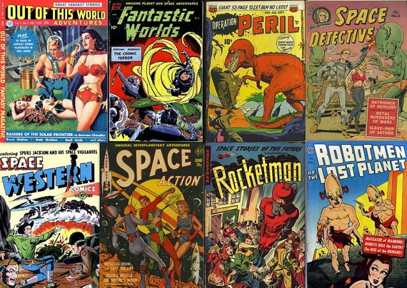 DVD Golden Age Comics FANTASY SPACE Action Sci Fi  - Out Of This World Aliens