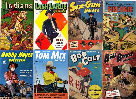 DVD Golden Age COWBOY WESTERN Comics   Cowboy Monte Hale Gabby Hayes