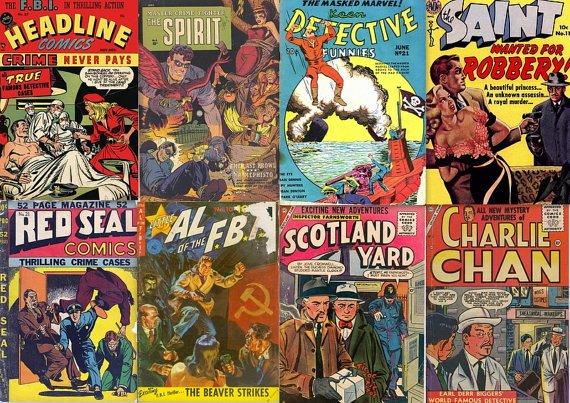 DVD Golden Age Crime HEADLINE COMICS (Vol 3) Prize The Spirit T-Man Kid Eternity
