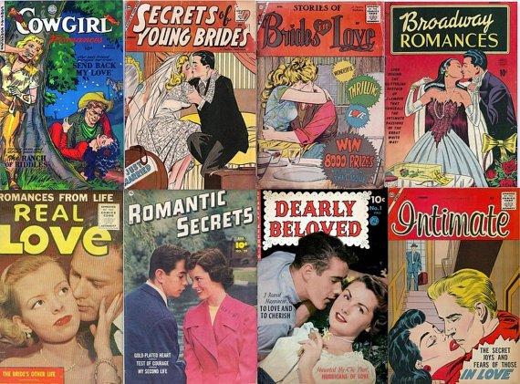 TEENAGE LOVE Romance Secrets Comics DVD Golden Age  - Book Fiction Girls Cbz cbr