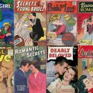 TEENAGE LOVE Romance Secrets Comics DVD Golden Age  - Book Fiction Girls Cbz cbr