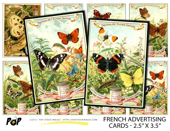French Printable Art Cards
