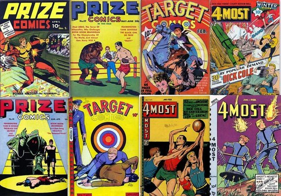 NOVELTY PRESS Comics DVD  Prize target 4 Most - Crestwood Publishing