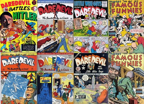 Lev Gleason DAREDEVIL COMICS DVD  Comic House Eastern Color books children