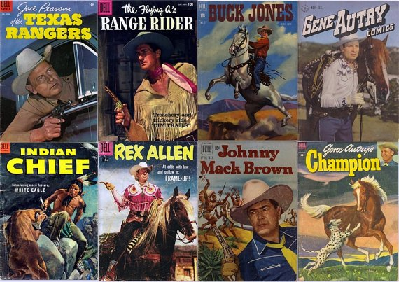 DVD Gold Age COWBOY WESTERN (Dell Comics) (vol 2) Gene Autry Rex Allen Ranger
