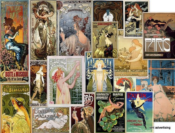 DVD Hi Res Posters Img.: Art NOUVEAU WOMEN In