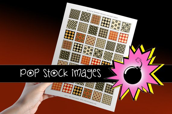 1 Inch Squares Collage Sheet-print Tiles for PendantsMagnets Stickers-Inchies Craft Projects print