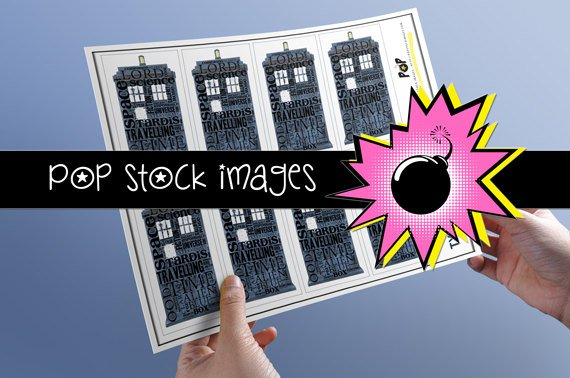 Doctor Who Inspired TARDIS Typography Tags-TARDIS-print Doctor Who Tags-Typography Tags Doctor Who