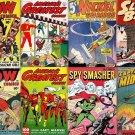 FAWCETT 147 WOW Comics DVD  Nickel America's Ibis Bulletman Spy Smasher