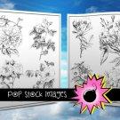 Digital Stamps-Set of 16-Roses Digital Stamps-Rose Illustrations-Print