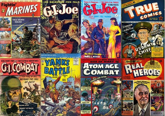 WAR HEROES Comics DVD (Vol 2) Golden Age - G I Joe Fightin' Marines True Heroes