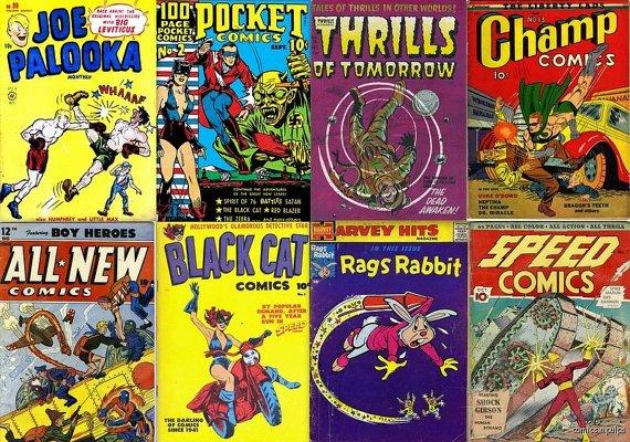 Harvey Comics JOE PALOOKA in DVD Ham Fisher Black Cat Champion Speed Stories Adventures