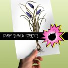 Purple Hyacinth Bulb Digital Graphic Printable - vintage print