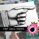Pointing Finger-Large Digital Image of Pointing Finger-Finger Pointing Busy HDigital Stamp-& Print