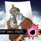 SANTA WITH HGUN Digital Image-Digital Santa Clipart-Hgun Toting Santa-2nd Amendment-Pro Gun Santa