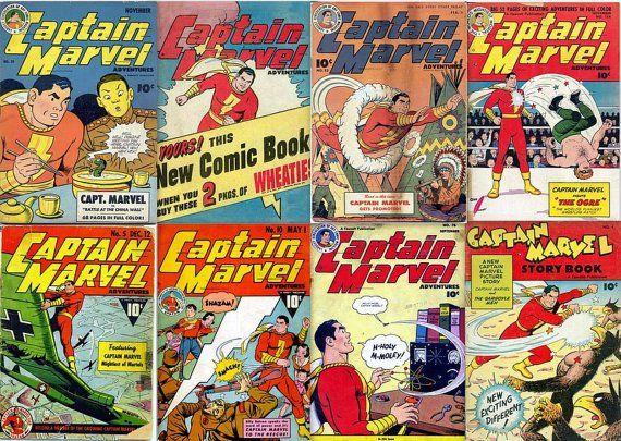Fawcett CAPTAIN MARVEL Adventures Comics DVD  1940 Billy Batson