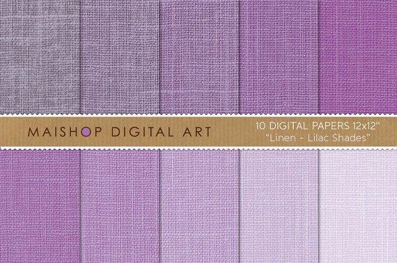 Digital Paper Linen-Lilac Shades-print Sheets for BackgroundsDigital ScrapbookingPhoto Books