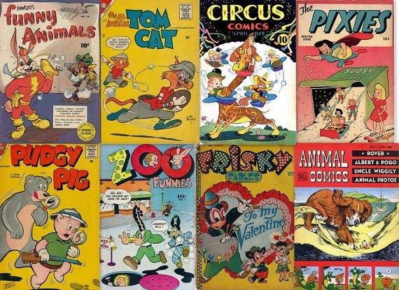 DVD Gold Age Comics FUNNY ANIMAL Cartoon-Tick Tock Tales Zoo Funnies cbr books humor