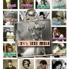 1-Inch Squares Kiss My Sass Tiles Collage Sheet-Retro Sass print for PendantsMagnets & Wine Charms