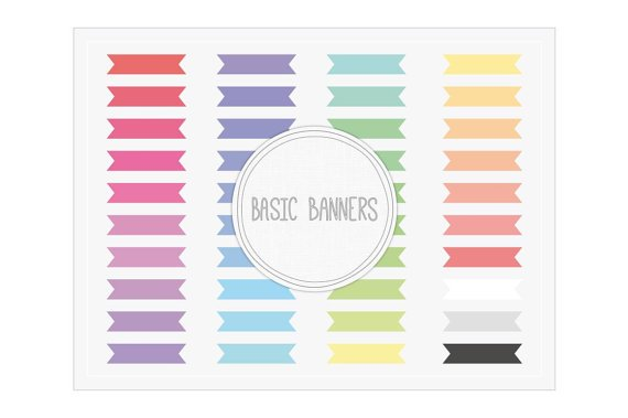 Basic Ribbon Banners Clip Art