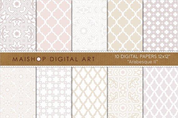 Digital Paper Arabesque II
