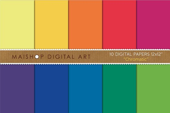 Solid Color Digital Paper - Chromatic