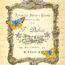 French Ephemera Printable Image Paris Ad ,  Print Design