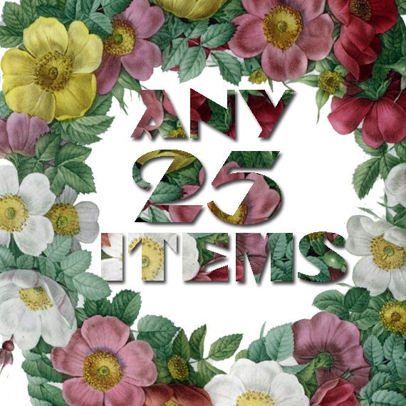 Any 25 Digital items from ArtVintage1800s shop offer with discount