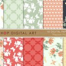 Digital Paper-Passion Flower II-PassifloraButterfliesGeometric Papersfor CardsCraftsScrapbook
