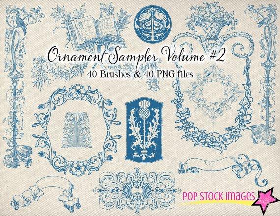 Decorative Frames Ornaments Brushes Volume 2-Photoshp. Brushes Fancy Ornament