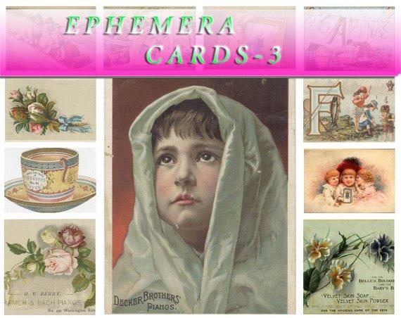 EPHEMERA-3 Collection with 390 vintage print
