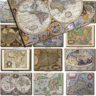 ANTIQUE MAPS-2 100 large size Img. printable old ancient World ephemera card