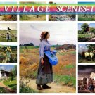 VILLAGE COUNTRY-1 on 188 vintage print