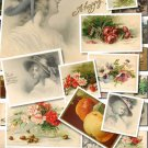 VINTAGE POSTCARDS-1 of 127 Img. Kids Children Women flowers old  clip art