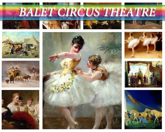 BALET CIRCUS Theatre on 192 vintage print