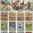 CHILDREN BOOKS-2 illustrations Collection with 260 vintage images High Res.