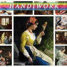 H, IWORK NEEDLEWORK on 169 vintage print