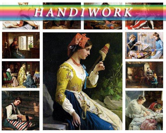 H, IWORK NEEDLEWORK on 169 vintage print