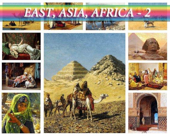 ASIA AFRICA East-2 theme on 227 vintage print