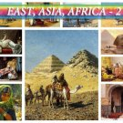 ASIA AFRICA East-2 theme on 227 vintage print