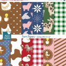 Farm Digital Papers - Backyard Scrapbooking Papers, card design, stickers