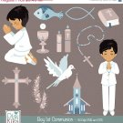Boy First Communion Clip Art - Communion Clipart, Catholic Vector Graphic