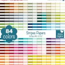 Stripes Digital Papers-Rainbow Stripes Papers-Scrapbook Papers-Huge Paper Pack