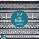 Lace Borders ClipartWh Lace BordersWedding LaceDigital BordersWh Lace Clip Art