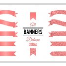 Banner Clip Art Deluxe Coral