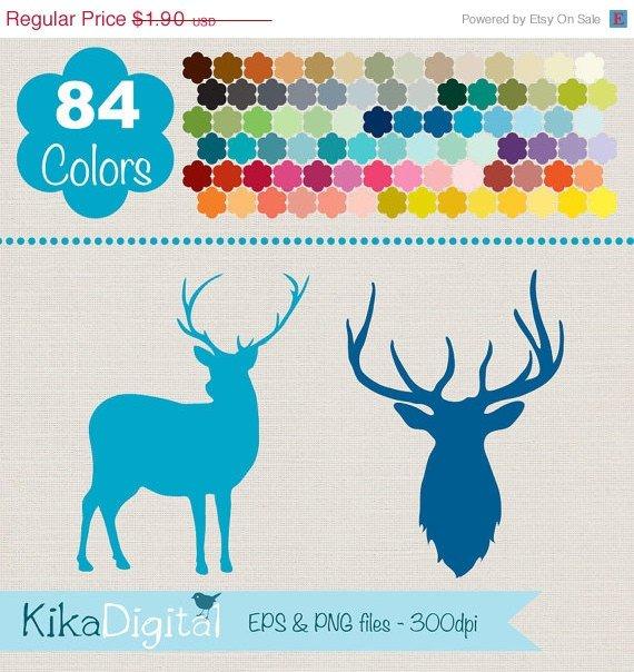 Deer Silhouettes Clip ArtRainbow Deer ClipartColorful Deer Vector GraphicsHuge Clipart