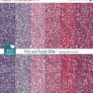 Pink Purple Glitter Digital PapersPink Glitter PapersPink Purple Glitter Papers