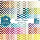 Chevron Digital Papers - Rainbow Scrapbook Papers - Huge Paper Pack