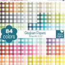 Gingham Digital Papers - Rainbow Scrapbook Papers - Huge Paper Pack